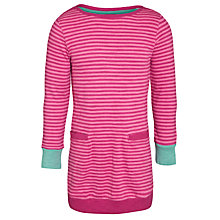 Buy Little Joule Bangles Striped Dress, Ruby Pink Online at johnlewis.com