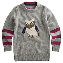 Buy Little Joule Girls' Featherton Knitted Dress, Grey Online at johnlewis.com