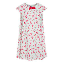 Buy John Lewis Girl Short Sleeve Floral Print Nightdress, Cream Online at johnlewis.com