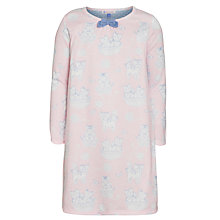 Buy John Lewis Girl Long Sleeve Cat Print Nightdress, Pink Online at johnlewis.com