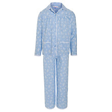 Buy John Lewis Girl Ditsy Print Pyjamas, Blue Online at johnlewis.com