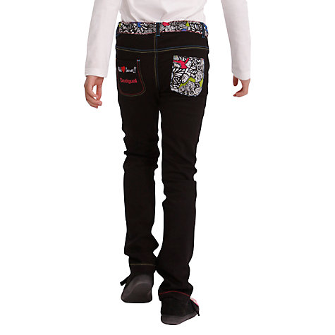 Buy Desigual Valdearena Jeans, Black Online at johnlewis.com
