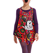 Buy Desigual Disney Long Sleeve Plat Dress, Purple/Multi Online at johnlewis.com