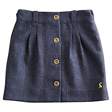 Buy Little Joule Girls' Cordelia Tweed Skirt, Blue Online at johnlewis.com