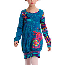 Buy Desigual Pectinatus Long Sleeve Dress, Blue Online at johnlewis.com