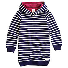 Buy Little Joule Jocie Hooded Stripe Dress, Blue Online at johnlewis.com