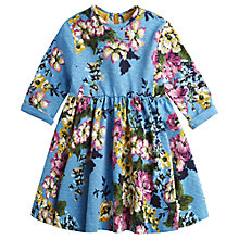 Buy Little Joule Girls' Madlyn Floral Dress, Blue Online at johnlewis.com
