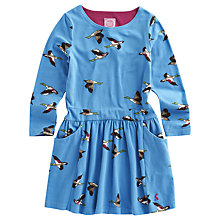 Buy Little Joule Girls' Elspeth Duck Dress, Blue Online at johnlewis.com