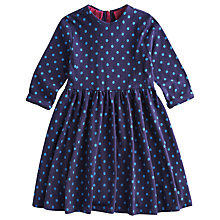 Buy Little Joule Girls' Madlyn Spot Print Dress, Blue Online at johnlewis.com