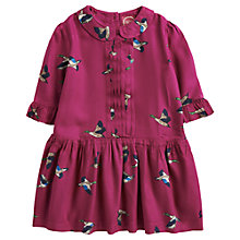 Buy Little Joule Marcy Duck Print Dress, Ruby Online at johnlewis.com