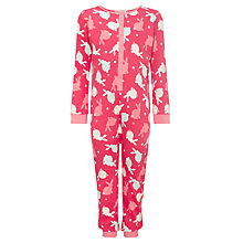 Buy John Lewis Girl Bunny Onesie, Pink Online at johnlewis.com