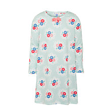 Buy John Lewis Girl Floral Long Sleeve Nightdress, Blue Online at johnlewis.com