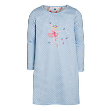 Buy John Lewis Girl Long Sleeve Fairy Nightdress, Blue Online at johnlewis.com