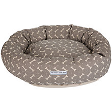 Buy Mutts & Hounds Bone Print Donut Dog Bed Online at johnlewis.com