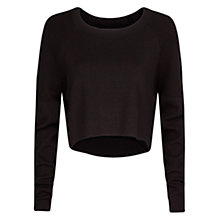 Buy Mango Cropped Knit Sweater, Black Online at johnlewis.com