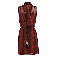 Buy Mango Snake Print Chiffon Dress, Bright Red Online at johnlewis.com