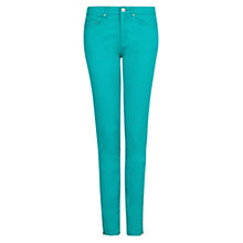 Buy Mango Slim Fit Zipped Trousers, Khaki Online at johnlewis.com