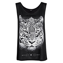 Buy Mango Printed Tiger T-Shirt, Black Online at johnlewis.com