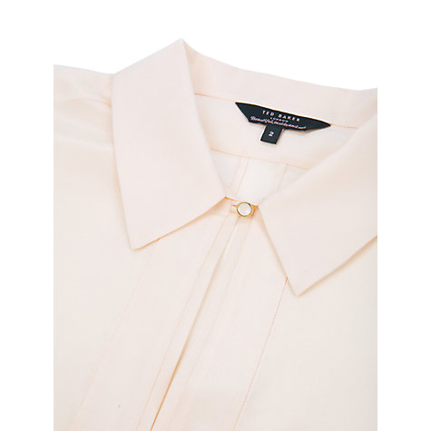 Buy Ted Baker Chare Cap Sleeve Shirt, Shell Online at johnlewis.com