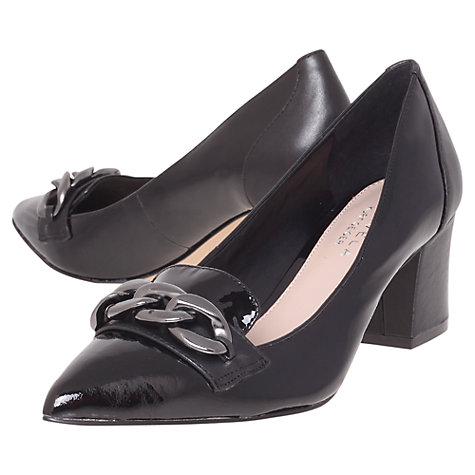 Buy Carvela Acorn Court Shoes, Black Online at johnlewis.com