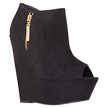 Buy Carvela Gallop Suede High Wedge Heel Ankle Boots, Black Online at johnlewis.com