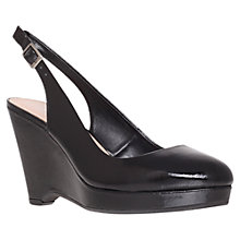 Buy Carvela Art Slingback Wedged Court Shoes, Black Online at johnlewis.com