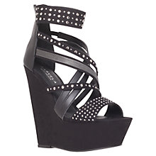 Buy Carvela Gertrude Occasion Sandals, Black Online at johnlewis.com