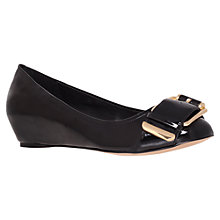 Buy Carvela Alor Wedged Court Shoes, Black Online at johnlewis.com