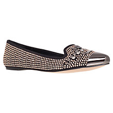 Buy Carvela Leiber Slipper Shoes, Black/Metallic Online at johnlewis.com