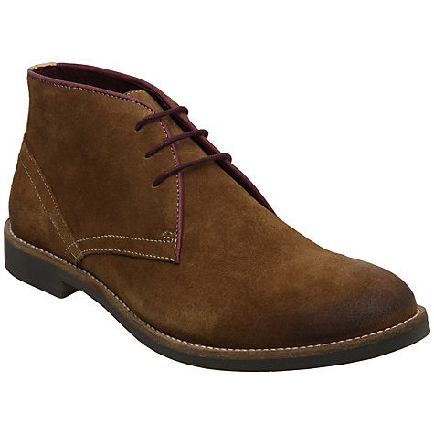 Buy Dune Cactus Contrast Piping Suede Desert Boots Online at johnlewis.com