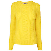 Buy Jaeger London Cable Knitted Jumper, Bright Yellow Online at johnlewis.com