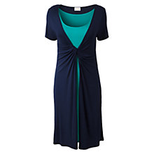 Buy East Double Layer Twist Dress, Navy Online at johnlewis.com