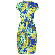 Buy Jaeger Bloomsbury Digital Print Silk Dress, Dark Multi Online at johnlewis.com