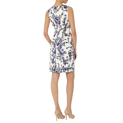 Buy Hobbs Invitation Lupin Print Dress, Ivory Online at johnlewis.com