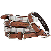 Buy Mutts & Hounds Mist Ticking Dog Collar Online at johnlewis.com