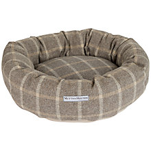 Buy Mutts & Hounds Slate Tweed Donut Dog Bed Online at johnlewis.com