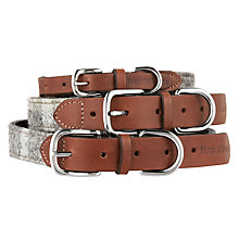 Buy Mutts & Hounds Slate Tweed Dog Collar Online at johnlewis.com