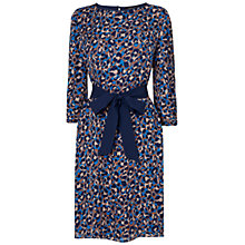 Buy Jaeger Leopard Print Dress, Bright Blue Online at johnlewis.com