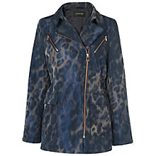 Buy Jaeger Jacquard Parka Coat, Navy Online at johnlewis.com