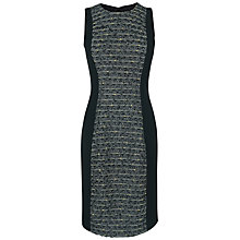 Buy Jaeger Linton Tweed Dress, Black Online at johnlewis.com