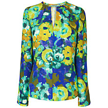Buy Jaeger Bloomsbury Digital Print Silk Top, Dark Multi Online at johnlewis.com
