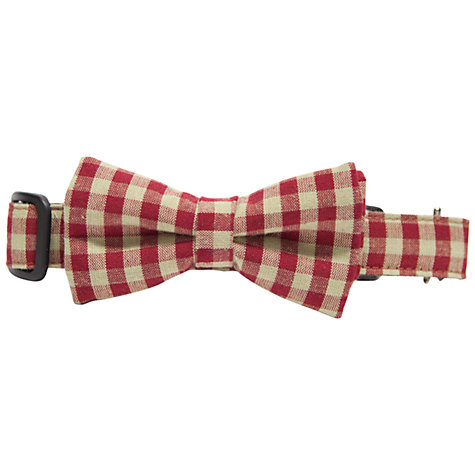 Buy Purplebone Check Bow Tie Dog Collar Online at johnlewis.com