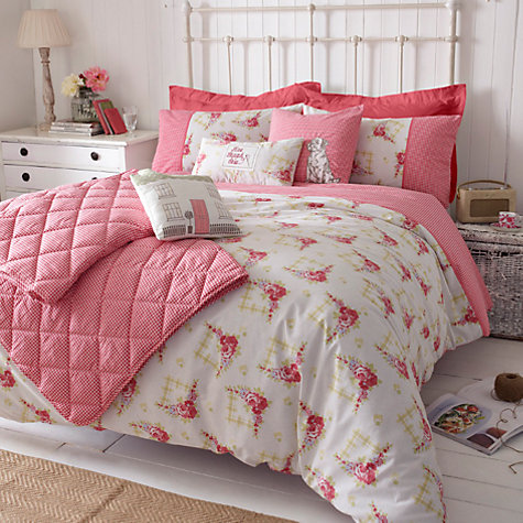 Buy Kirstie Allsopp Gingham Rose Bedding Online at johnlewis.com
