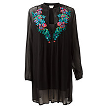Buy East Festival Embroidered Tunic, Black Online at johnlewis.com
