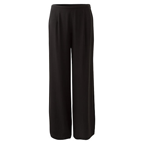 Buy East Palazzo Silk Trousers, Black Online at johnlewis.com