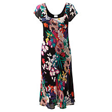 Buy East Rainforest Print Dress, Black Online at johnlewis.com