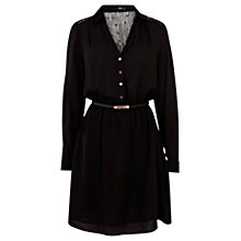 Buy Oasis Lace Yoke Dress, Black Online at johnlewis.com
