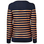 Buy Jaeger Metallic Stripe Breton Jumper, Navy Online at johnlewis.com