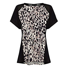 Buy Warehouse Animal Print Extended Shoulder T-Shirt, Multi Online at johnlewis.com