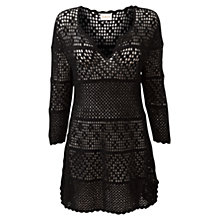 Buy East Crochet Tunic, Black Online at johnlewis.com
